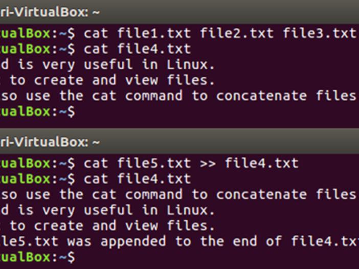 Terminal 101: voeg meerdere bestanden samen met Cat